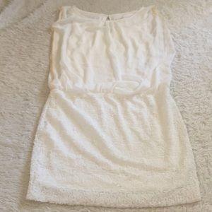 Aidan white sequin bottom dress